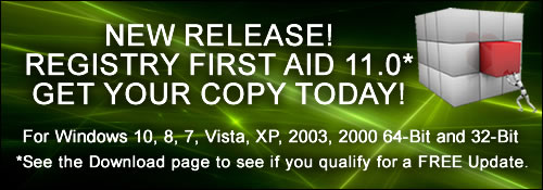 Registry First Aid 9.0 for Windows 8, Windows 7, Vista, XP, 2008, 2003, 2000 Released!